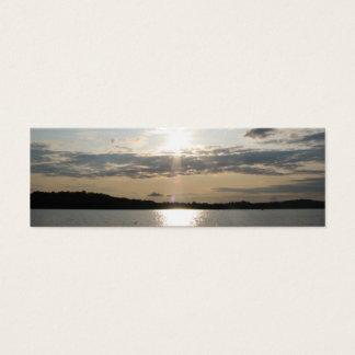 Pretty Sunset Bookmark Mini Business Card