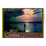 Pretty Sunset Holiday Greeting Card