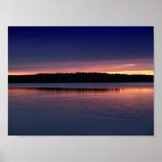 Pretty Sunset Horizon Poster