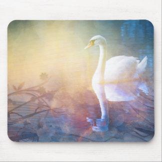 Pretty Swan Reflection Lake Mouse Pad