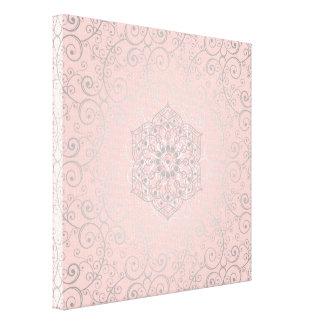 Pretty Swirled Romantic Mandala Pattern | Canvas