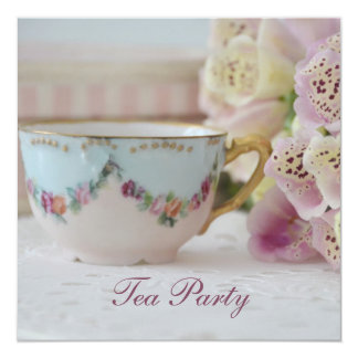 Pretty Tea Party Invitations