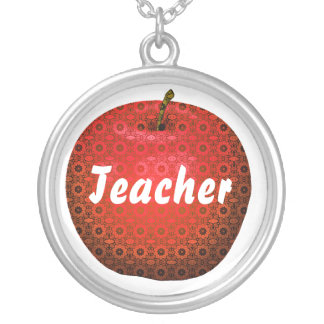 Pretty Teacher's Pattern Apple Necklace