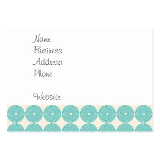 Pretty Teal Aqua Turquoise Blue Circles Disks Business Card Templates