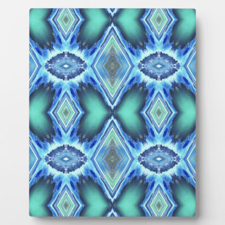 Pretty  Teal Blue Green Pattern Plaque