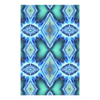 Pretty  Teal Blue Green Pattern Stationery