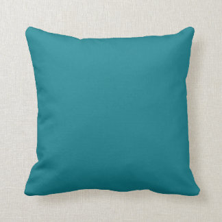 Pretty Teal Blue Solid Color Toss Pillow Throw Cushions