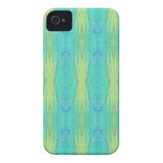 Pretty Teal Lemon Lime Modern Pattern iPhone 4 Cases