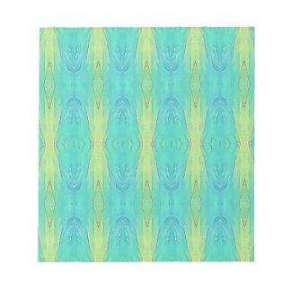 Pretty Teal Lemon Lime Modern Pattern Notepad