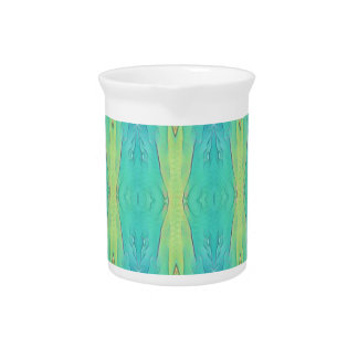 Pretty Teal Lemon Lime Modern Pattern Pitcher