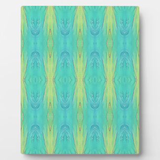Pretty Teal Lemon Lime Modern Pattern Plaque