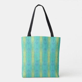 Pretty Teal Lemon Lime Modern PatternThis  design Tote Bag