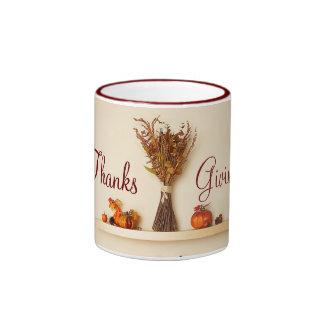 Pretty Thanksgiving Seasonal Decorations Mugs