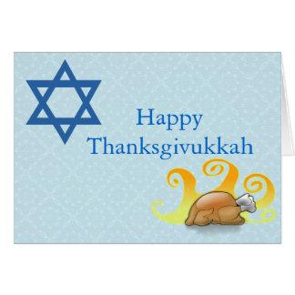 Pretty Thanksgivukkah Greeting Card