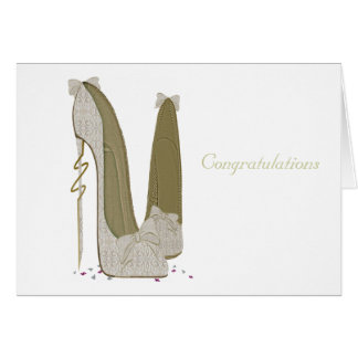 Pretty Things Wedding Stiletto Shoes Art Greeting Card