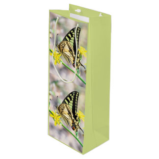 Pretty Tiger Swallowtail Butterfly Wine Gift Bag