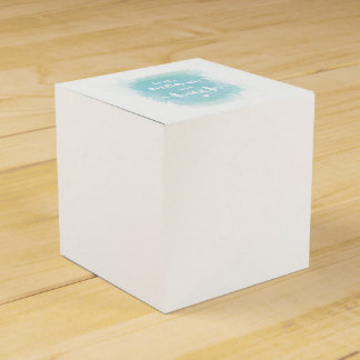 """Pretty """"To the moon"""" blue calligraphy watercolor Favour Box"""