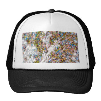 Pretty Tree Of Life Stained Glass Photomanipulatio Cap