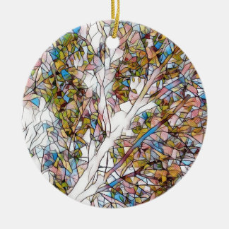 Pretty Tree Of Life Stained Glass Photomanipulatio Ceramic Ornament