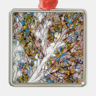 Pretty Tree Of Life Stained Glass Photomanipulatio Metal Ornament