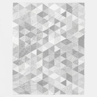 Pretty Triangle grunge pattern II + your ideas Fleece Blanket