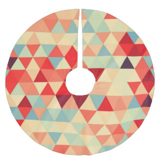 Pretty Triangle pattern II + your ideas Brushed Polyester Tree Skirt