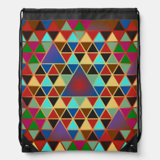 Pretty Triangle pattern III + your ideas Drawstring Bag
