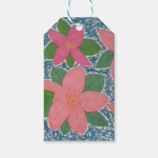 Pretty Tropical Flower Painted Pattern