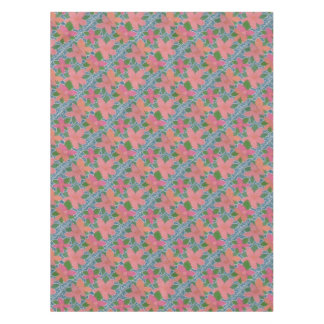 Pretty Tropical Flower Painted Pattern Tablecloth