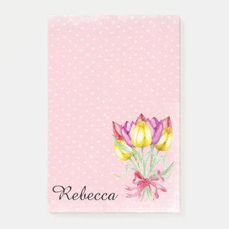 Pretty Tulip Flower Design Post it notes