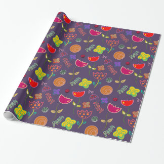 Pretty Tulips and Flowers Gift Wrap