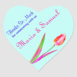 Pretty Tulips Thank You Favour Label Stickers
