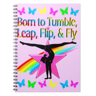 PRETTY TUMBLING GYMNAST GIRL NOTEBOOK