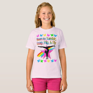PRETTY TUMBLING GYMNAST GIRL T-Shirt
