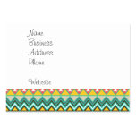 Pretty Turquoise Yellow Pink Native American Print