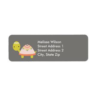 Pretty Turtle Return Address Labels