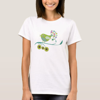 Pretty Tweet Whimsical Bird Men's T-Shirt