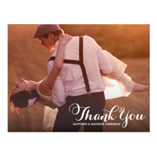 PRETTY TYPE WEDDING THANK YOU POST CARD