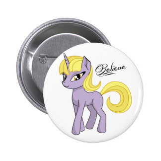 Pretty Unicorn Believe 6 Cm Round Badge