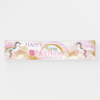 Pretty Unicorn Birthday Party Banners