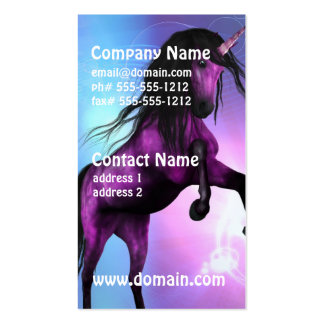 Pretty Unicorn Pack Of Standard Business Cards