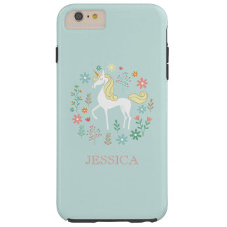Pretty Unicorn Cute Personalized Tough iPhone 6 Plus Case