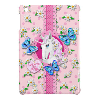 Pretty Unicorn in Pink with Polka Dots Case Case For The iPad Mini