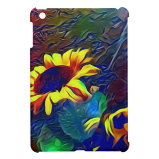 Pretty Vibrant Artistic Sunflowers Case For The iPad Mini