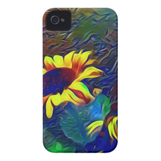 Pretty Vibrant Artistic Sunflowers iPhone 4 Case