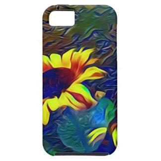 Pretty Vibrant Artistic Sunflowers Tough iPhone 5 Case