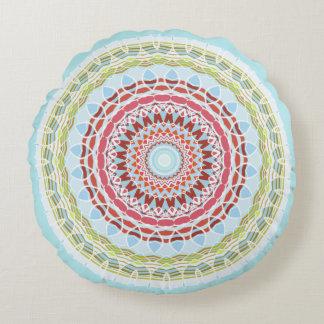 Pretty Vibrant Colourful Mandala Double Sided Round Cushion