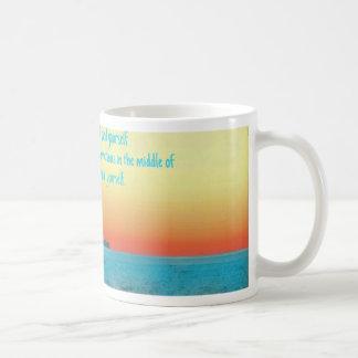 Pretty Vibrant Oceanscape Wisdom Quote Coffee Mug