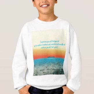 Pretty Vibrant Oceanscape Wisdom Quote Sweatshirt