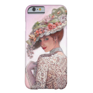 Pretty Victorian Fashion Girl iPhone 6 case Barely There iPhone 6 Case